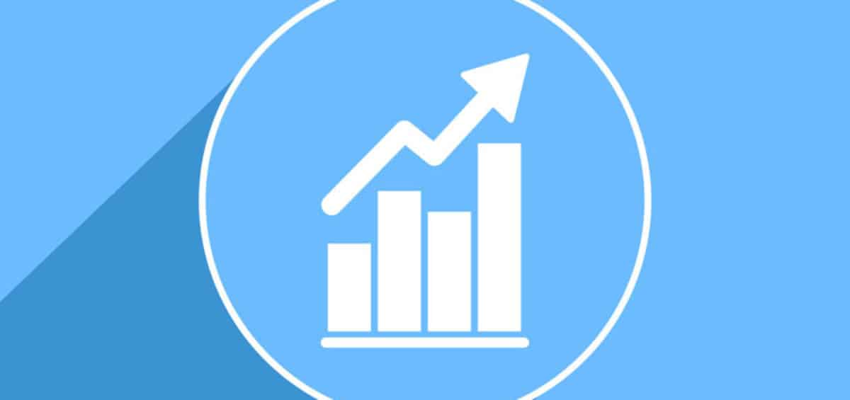 Is Your Small Business Achieving Profitable Growth? chart of growth on a blue background